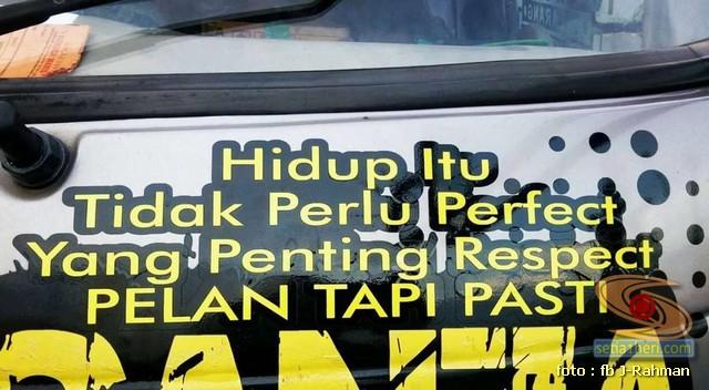Kumpulan tulisan stiker bak truk dan kata kata mutiara untuk sopir (2)