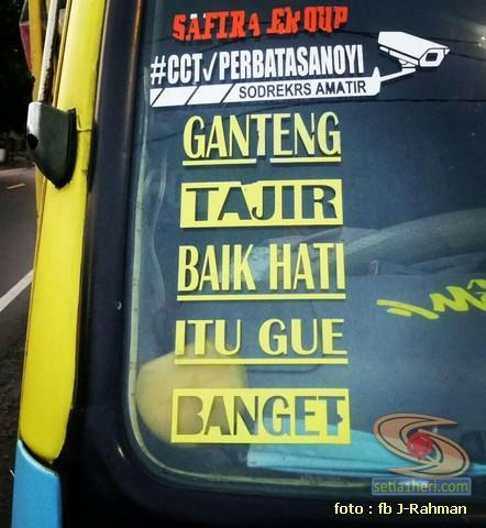 Kumpulan tulisan stiker bak truk dan kata kata mutiara untuk sopir (27)