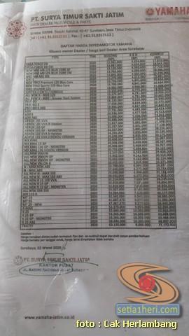 daftar harga Yamaha XSR 155 di Kota Surabaya