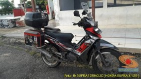 Kumpulan foto Honda Supra X 125 pakai tubular framre dan triple box gans.. (3)