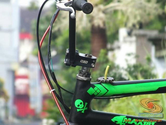 BMX Moto, Modifikasi mini trail odong-odong rangka BMX mesin Yamaha Crypton asal Malang Jawa Timur (4)