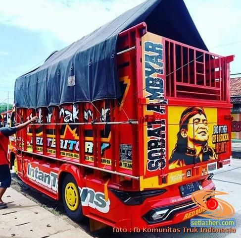 Gambar lord Didi Kempot di bokong truk, Sobat Ambyar...