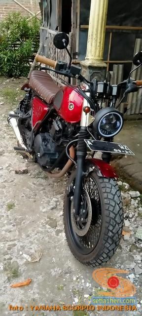 Kumpulan foto modifikasi Yamaha Scorpio menjadi scrambler atau japstyle (10)
