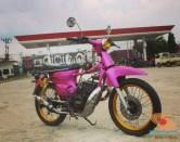 Modifikasi Yamaha RX King berubah jadi motor bebek retro klasik atau swap engine (8)