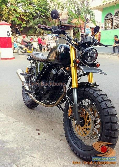 Modifikasi Yamaha Scorpio versi Scrambler asal Jakarta (4)