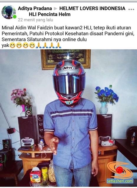 ucapan khas lebaran anak biker dan anak helmet lover