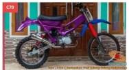 Honda C70 modif trail odong-odong alias bebek trail GTX (6)