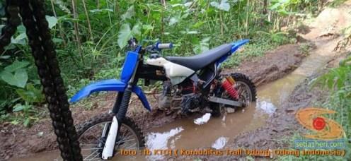 Modifikasi trail GTX bebek basis mesin Yamaha Vega tahun 2020 (39)
