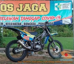 Modifikasi trail GTX bebek basis mesin Yamaha Vega tahun 2020 (4)