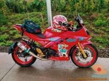 Kumpulan modif Yamaha R15 warna merah meronah brosis. (14)