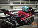 Kumpulan modif Yamaha R15 warna merah meronah brosis. (19)