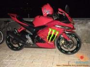 Kumpulan modif Yamaha R15 warna merah meronah brosis. (7)