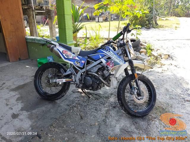 Modifikasi Honda CS1 menjadi motor trail atau trail odong-odong