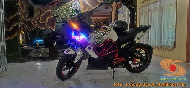 Modifikasi Yamaha Byson pakai headlamp Kawasaki Z250 (4)