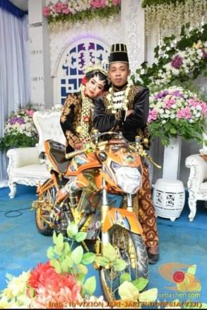 Motor-motor vijar yang jadi saksi di pelaminan dan pernikahan (17)