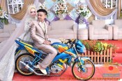 Motor-motor vijar yang jadi saksi di pelaminan dan pernikahan (21)