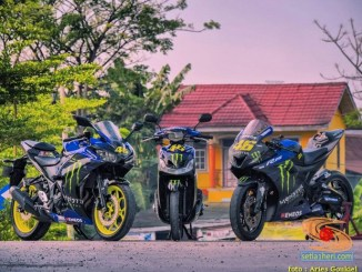 Modifikasi Trio Monster Energy Yamaha matik dan sport