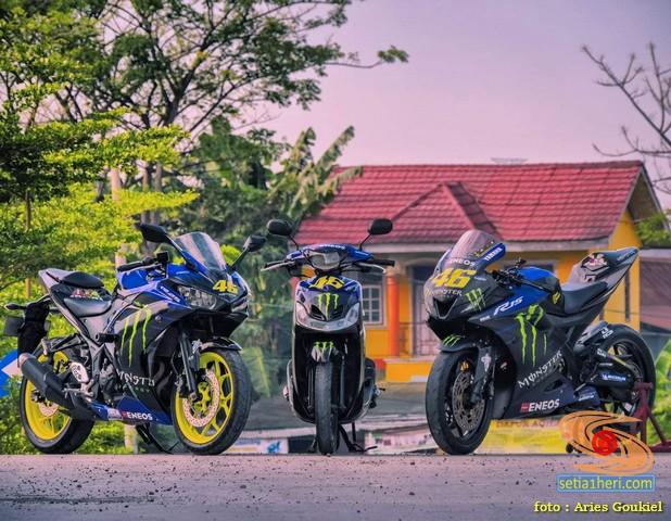 Modifikasi Trio Monster Energy Yamaha matik dan sport