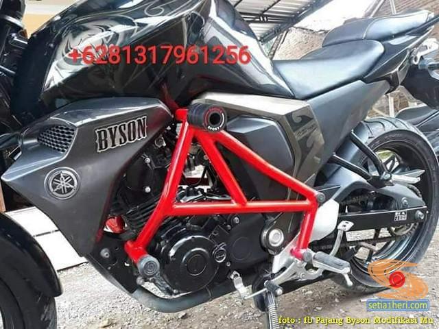 Ragam bentuk engine guard atau frame tubular pada Yamaha Byson