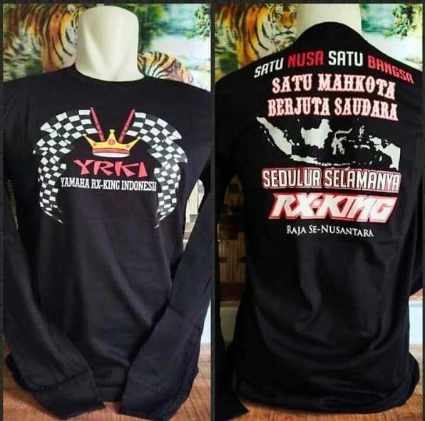 Ragam tulisan militan kaos biker Yamaha RX King (1)