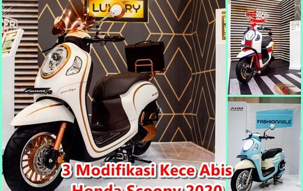 3 Konsep Modifikasi cantik abiss Honda Scoopy tahun 2020 (1)