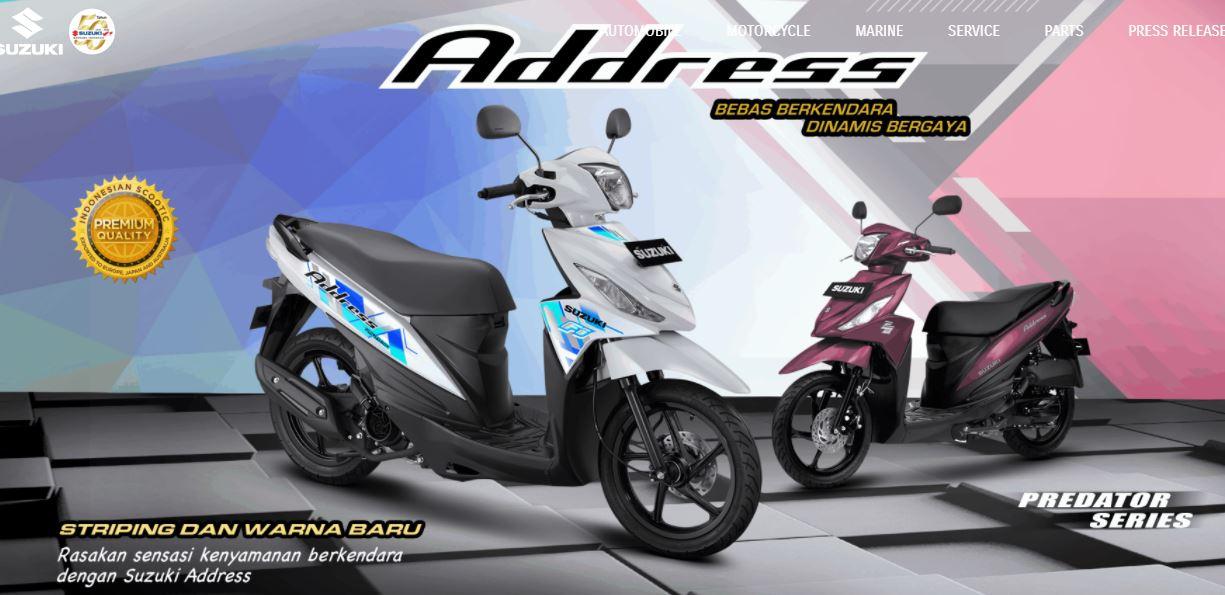 Pilihan warna baru Suzuki Address FI tahun 2020