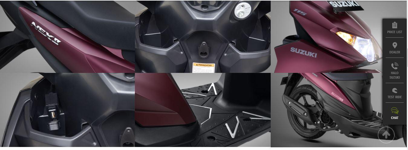 fitur baru Suzuki NEX II tahun 2020