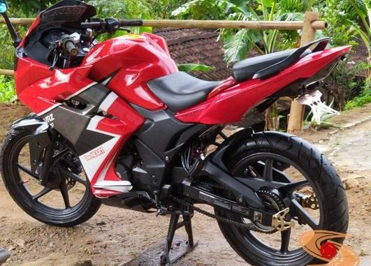 Modifikasi Honda Verza jadi motor sport full fairing pakai bodi honda cbr250rr