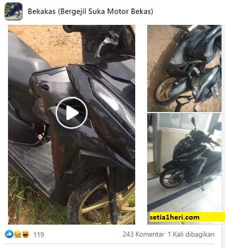 motor bekas kecelakaan selalu bikin celaka lagi