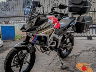 Modifikasi Honda CS1 gaya turing adventure bak BMW GS 1100 gans.. (2)