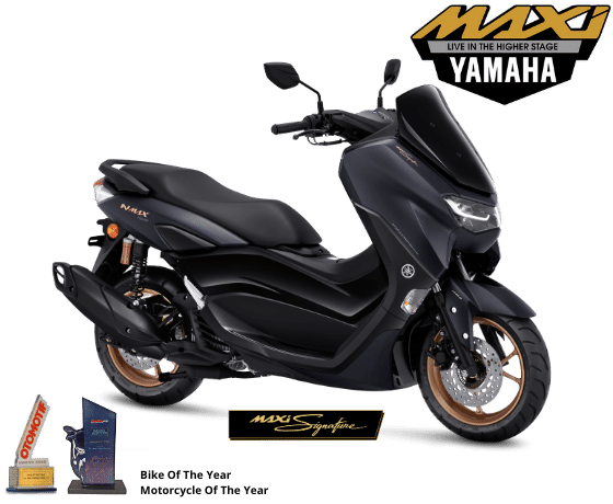 All New NMAX 155 Connected ABS Maxi Signature warna hitam tahun 2021