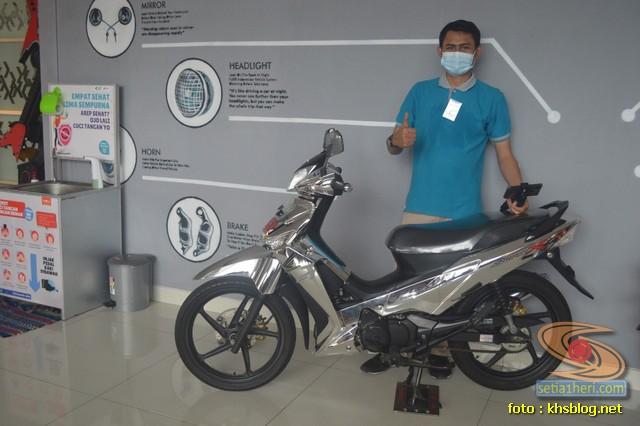 KHS ketemu Honda Supra X 125 warna millenium silver glowing gans... (1)
