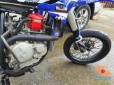 Modif Yamaha Scorpio jadi supermoto dengan bodi YZ250F (1)