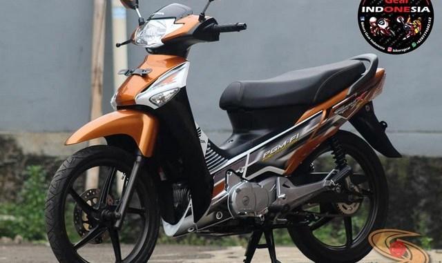 Restorasi Honda Supra X 125 PGM-Fi Tahun 2005 warna langka gans.. (1)
