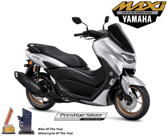 Warna baru All New NMAX 155 Connected ABS tahun 2021, Prestige Silver