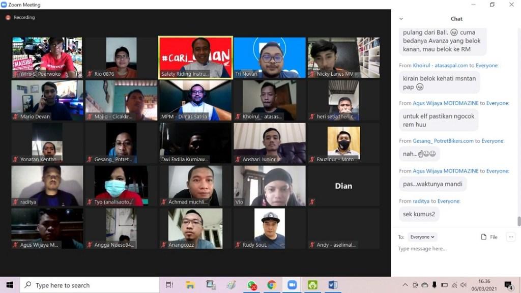 Blogger dan Vlogger #cari_aman competition yang digelar oleh MPM Distributor tahun 2021