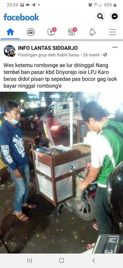 Maling motor gila, gasak motor plus dagangan roti bakar di Surabaya