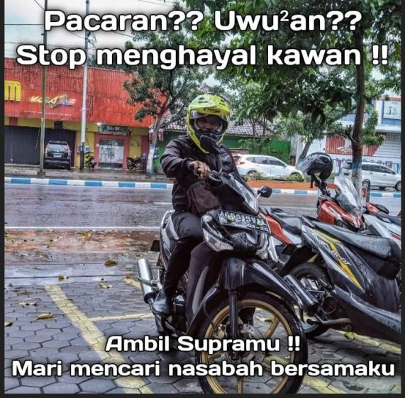 Meme biker Supra Pacaran Uwu2an Stop Menghayal kawans !!!... (3)