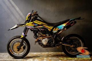 Ragam modif stiker decals Yamaha WR 155 Supermoto brosis