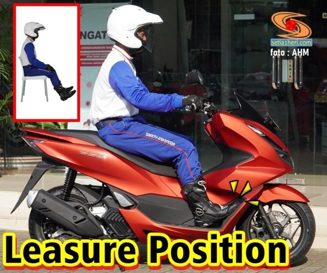 ergonomi honda pcx 160 tahun 2021_Leisure Position