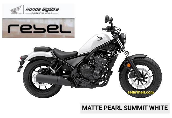 Matte Pearl Summit White, warna baru moge Honda Rebel tahun 2021