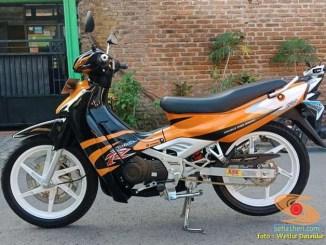 Restorasi dan modif Suzuki Satria RU Alias Satria Lumba Tahun 2003 (1)