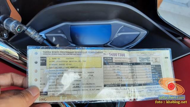 Inilah pajak motor Honda PCX 160 tahun 2021 di Jawa Timur brosis
