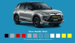 Pilihan warna silver Toyota Raize tahun 2021