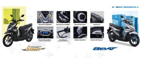 aksesoris All New Honda BeAT dan All New Honda BeAT Street tahun 2021