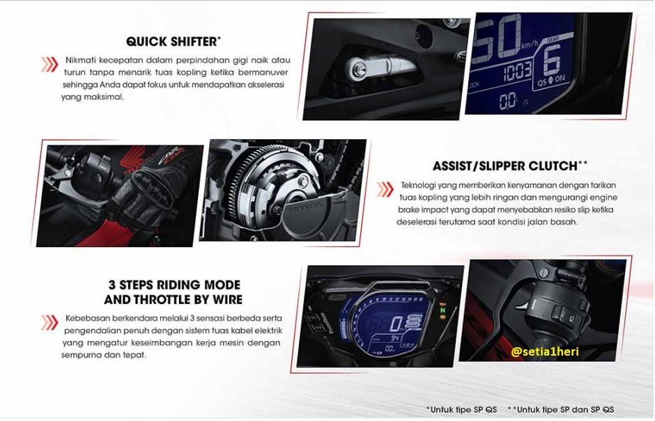 Ini bedanya Honda CBR250RR, CBR250RR SP dan CBR250RR SP Quick Shifter