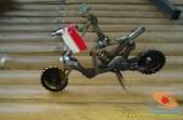 Kreativitas miniatur sepeda motor dari suku cadang bekas di bengkel sepeda motor (2)