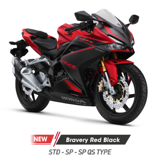 Warna Baru Honda CBR250RR Bravery Red Black tipe STD, SP maupun SP Quick Shifter tahun 2021