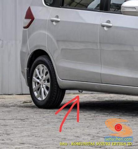 fungsi kotak besi dibawah kolong dekat ban pada mobil Suzuki Ertiga (1)