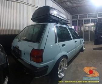 Mobil sedan pasang roofbox dan roofrack (9)